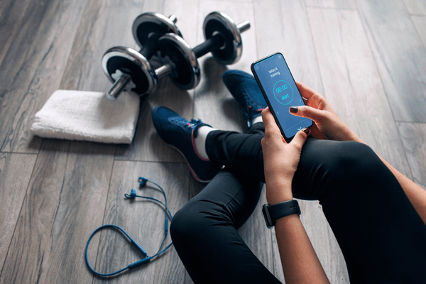 Woman monitoring health during workout